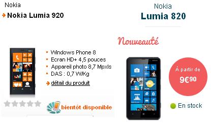 Nokia Lumia 820 Lumia 920 smartphones