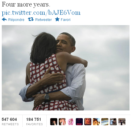 Obama four more years Twitter retweet social