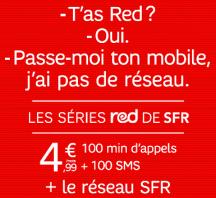 SFR publicité offres Red Free Mobile