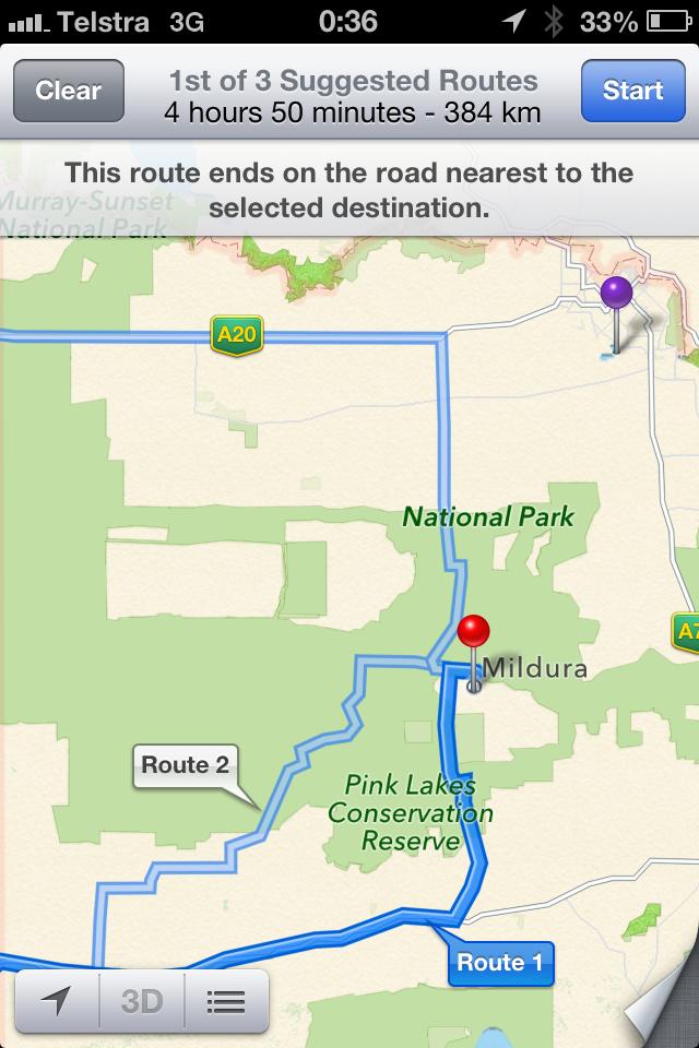 Apple Maps Australie