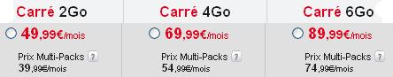 SFR forfaits Carré Web Google Nexus 4