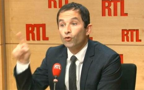 Benoît Hamon sur RTL