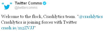 Twitter rachète Crashlytics