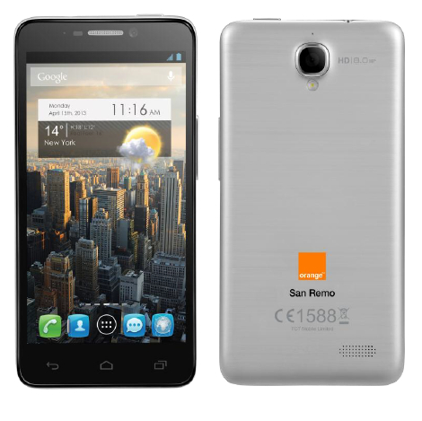 smartphone Orange San Remo