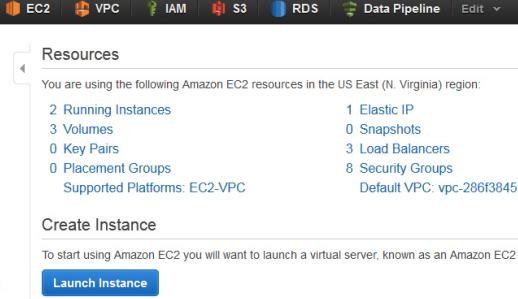 Amazon Web Services cloud privé