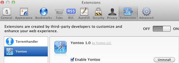 cheval de Troie Yontoo Mac OS X