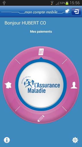 Assurance maladie appli mobile