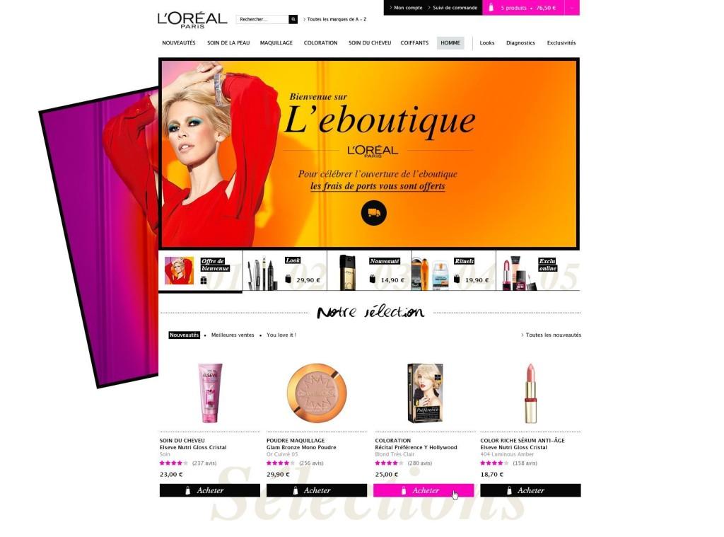 L'oreal Boutique en ligne