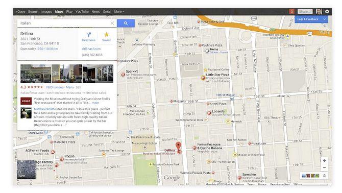 google maps resultats recherche