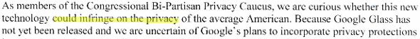Google Glass vie privée