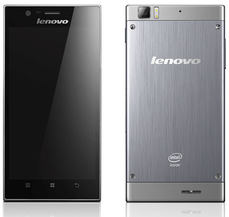 Lenovo K900 smartphone Intel
