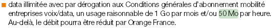 Orange 4G fair use 50 Mo