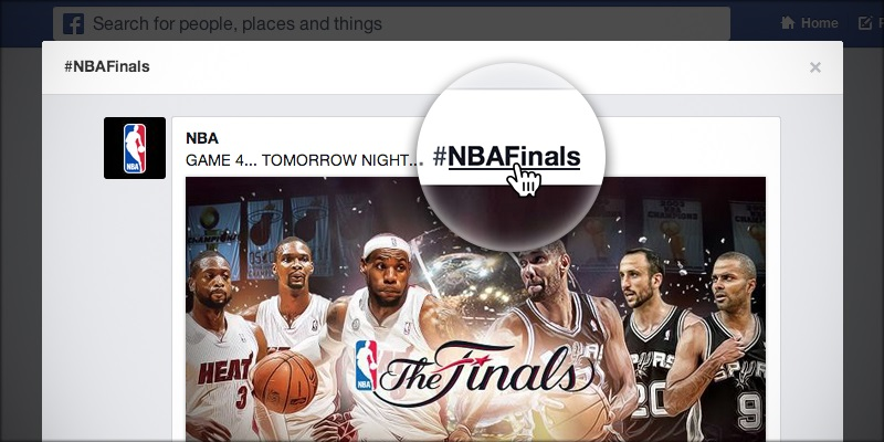 facebook - hashtag - nba