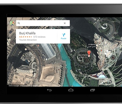 google maps-tablette-android-ipad