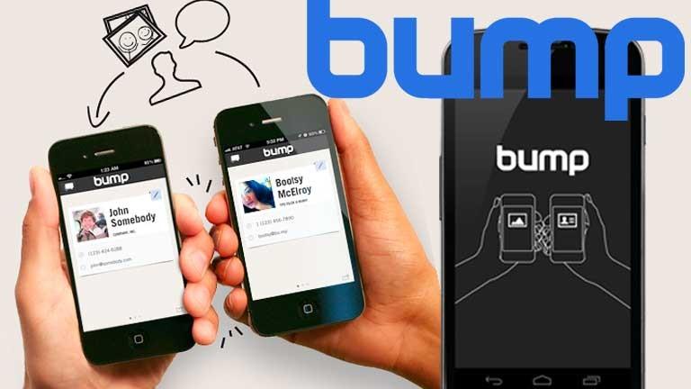 bump-application-partage-données-smartphone