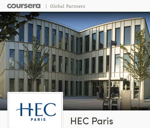 Hec Paris sur Coursera