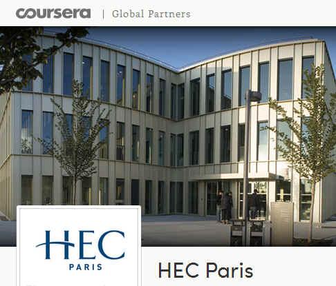 Hec Paris sur Coursera