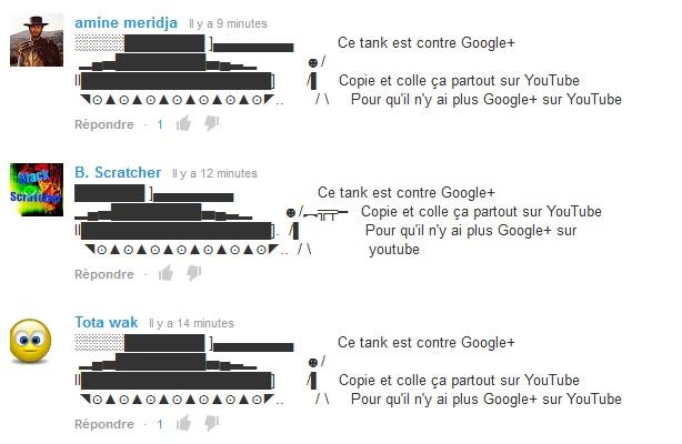 youtube-google-plus-spam-manifestation