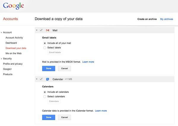 google-gmail-calendar-sauvegarde-donnees