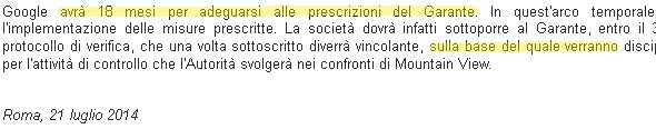 google-cnil-italie