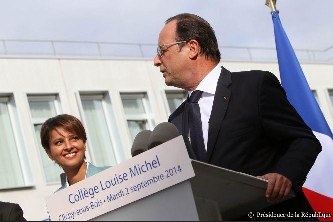 francois-hollande-nouveau-plan-numerique-ecole-Inauguration-nouveau-college-louise-michel-Clichy-sous-Bois