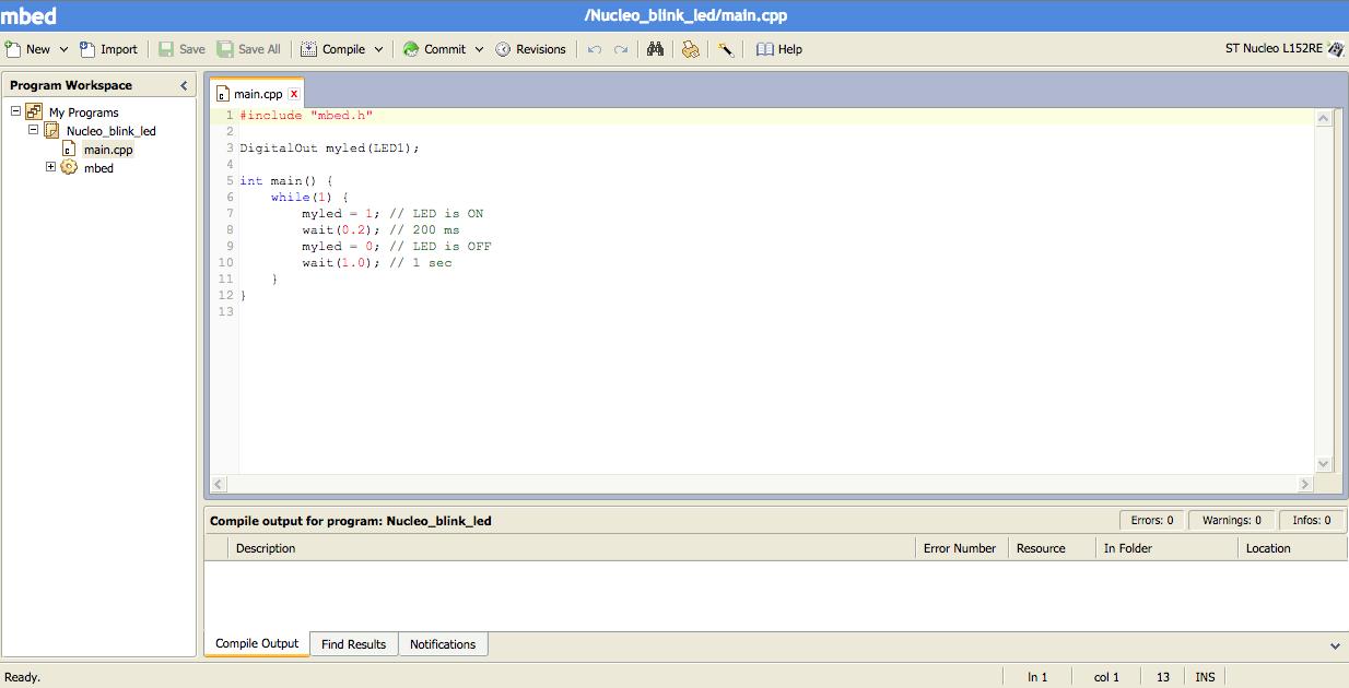 mbed_compilateur_C_en_ligne