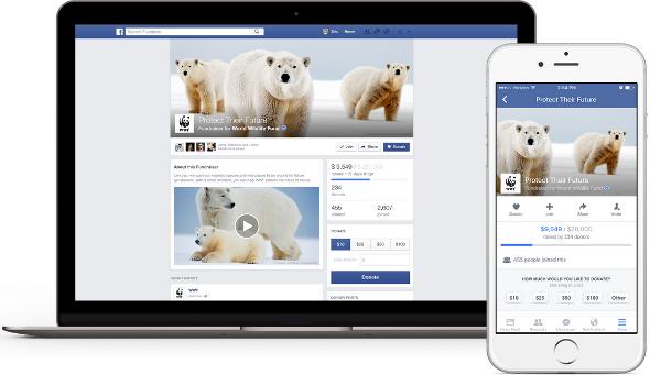 Facebook se lance dans le crowdfunding facebook-fundraiser