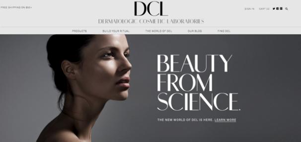 Le site Web de DCL Skincare par Shopify