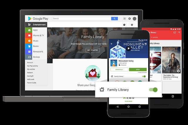 Le partage familiale est disponible — Google Play