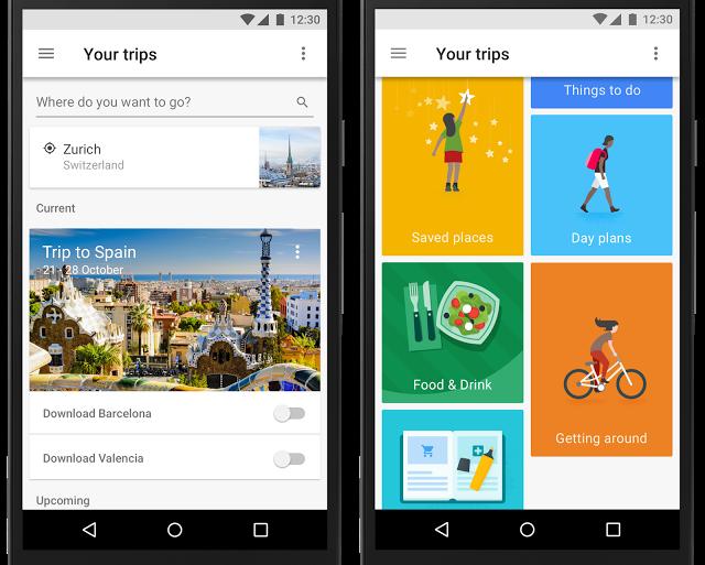 Google lance Google Trips, votre guide touristique sur mesure