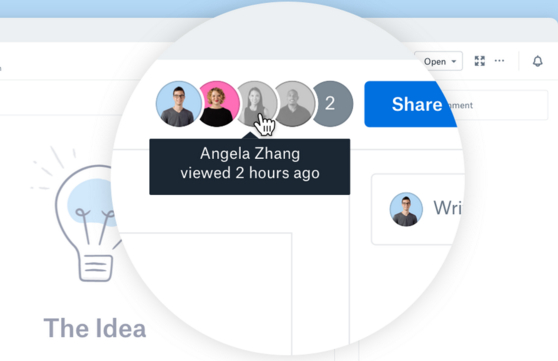 dropbox-interface-web