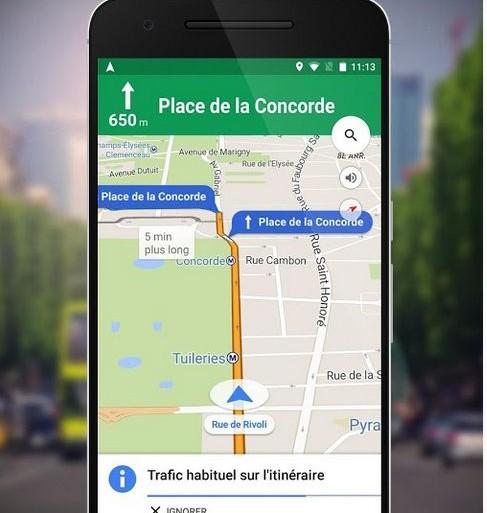 Une fonctionnalité pour retrouver sa voiture — Google Maps