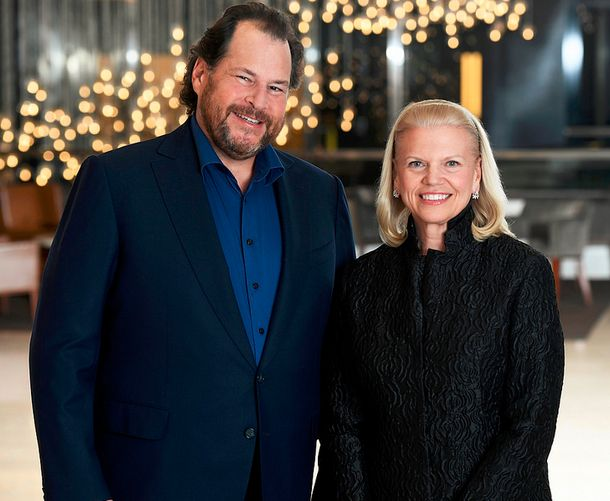 marc-benioff-salesforce-ginni-rometty-ibm-partenariat-intelligence-artificielle