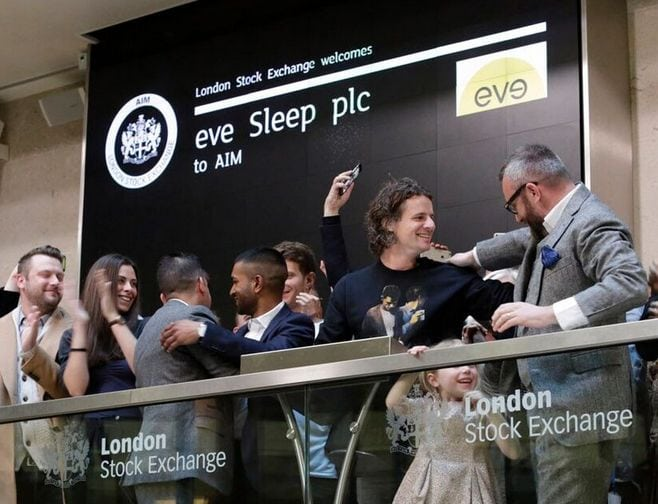 eve-sleep-introduction-bourse-londres-matelas