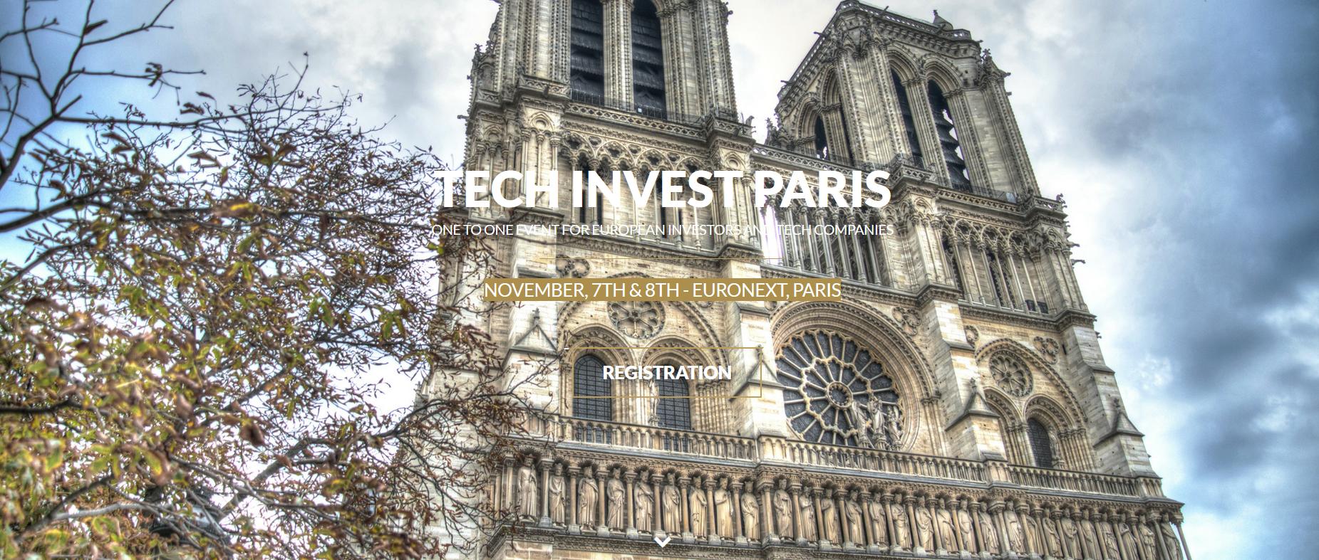 Tech Invest Paris – 7 au 8 Novembre 2018