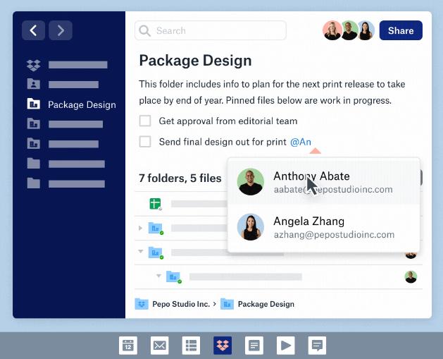 Espace de travail : les «Spaces» de Dropbox transforment les dossiers partagés
