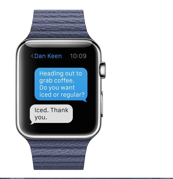 Apple Watch : messagerie instantanée