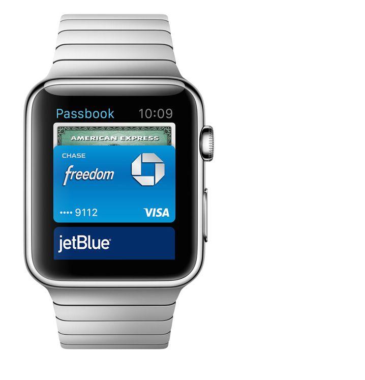 Apple Watch : Passbook (admission à bord de l\'avion)
