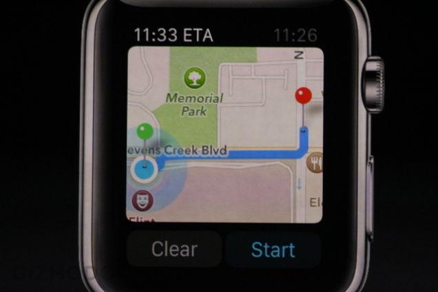 Apple Watch : cartograhie et GPS