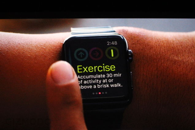 Apple Watch : exercice physique
