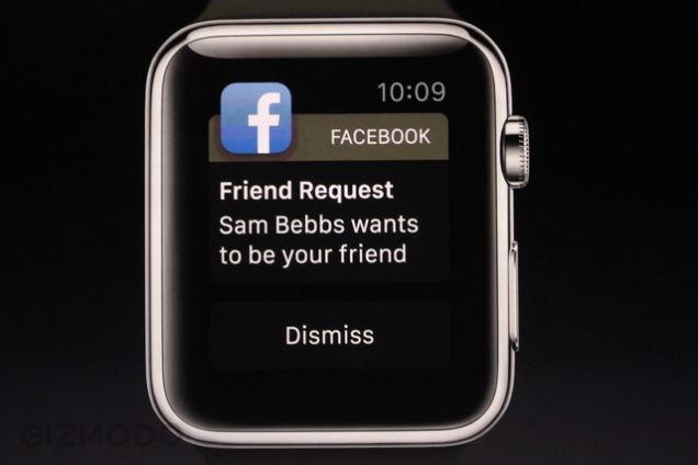Apple Watch : passerelle Facebook